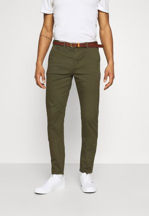 NEW BELTED  - Chino kalhoty - military