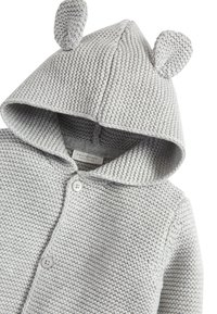 Next - GREY KNITTED BEAR CARDIGAN (0MTHS-3YRS) - Vest - grey - 2