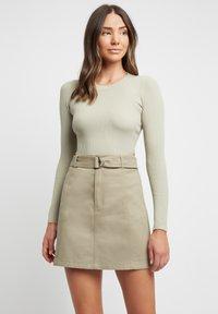 Kookai - A-line skirt - p8-moss gray/vert mousse - 0