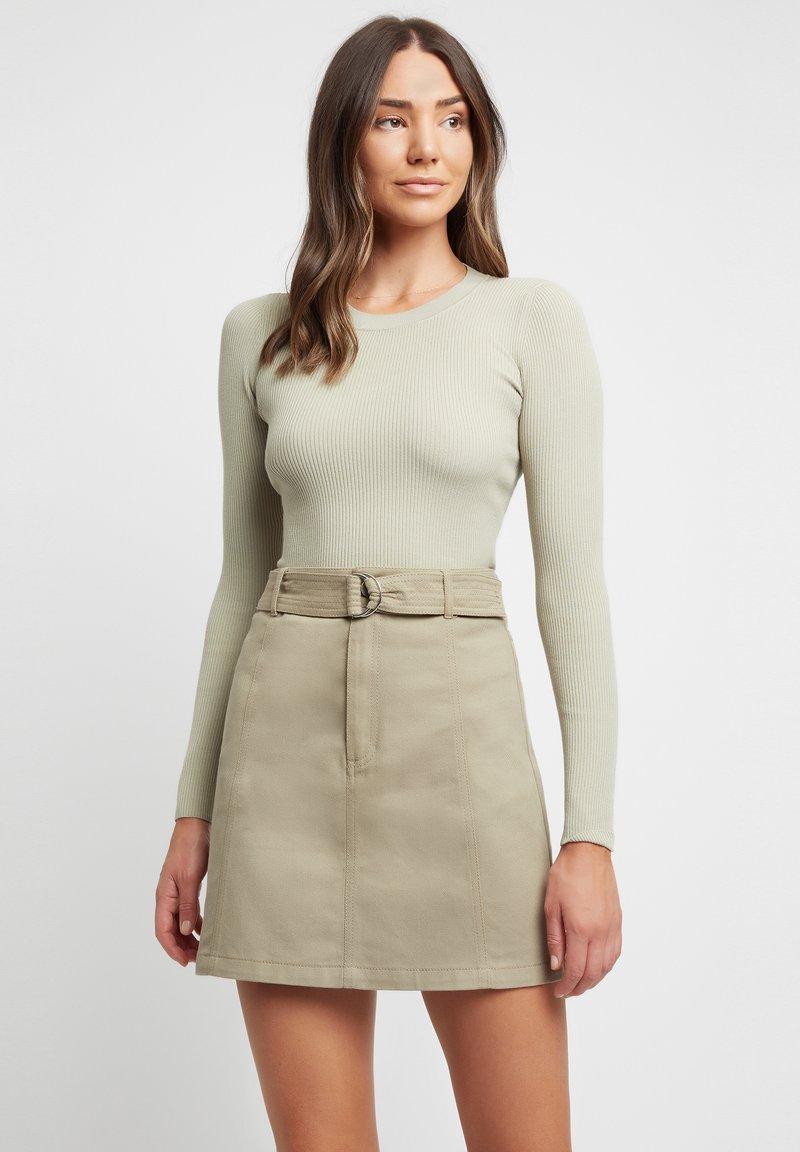 Kookai - A-line skirt - p8-moss gray/vert mousse