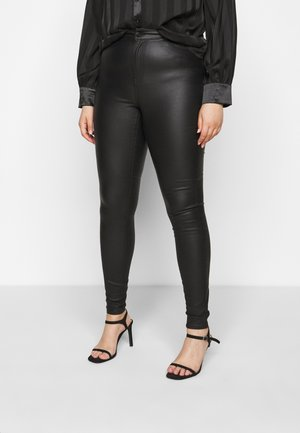 VMLORA COAT PANTS - Skinny-Farkut - black