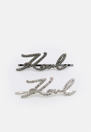 SIGNATURE HAIR CLIPS 2 PACK - Hair styling accessory - silver-coloured