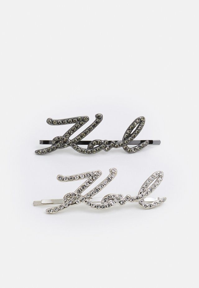 SIGNATURE HAIR CLIPS 2 PACK - Haar-Styling-Accessoires - silver-coloured