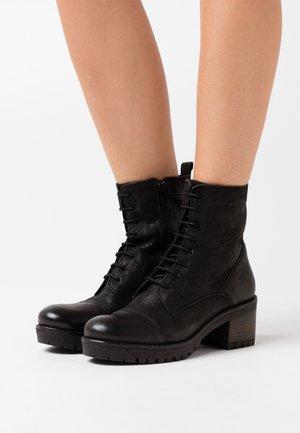AMY - Platform ankle boots - black