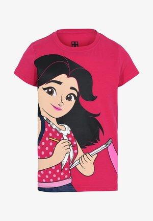 Print T-shirt - dark pink