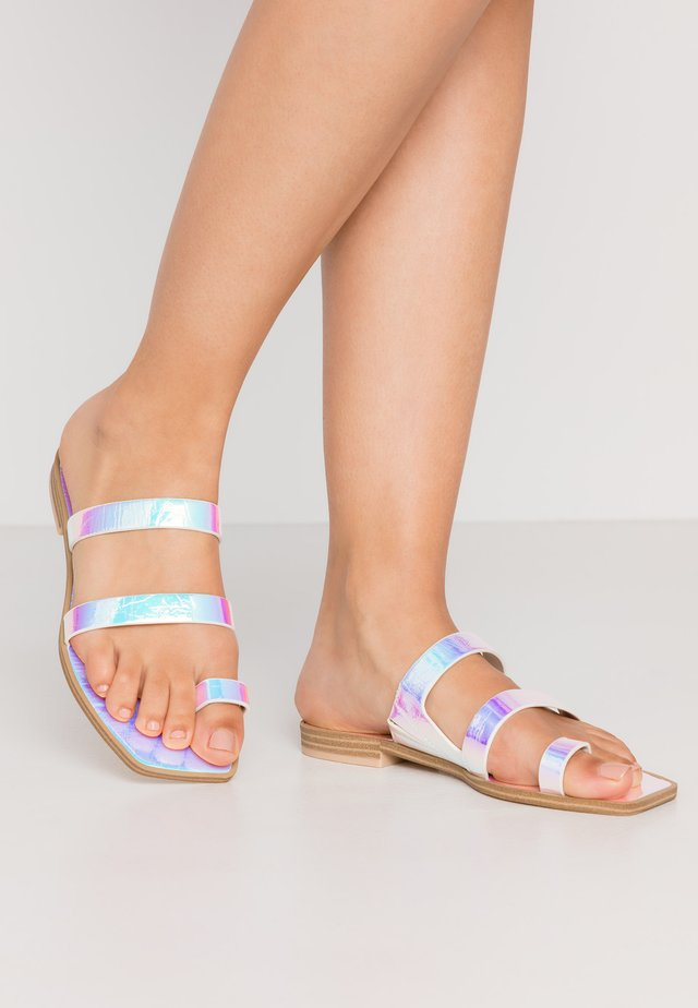 ISALA - T-bar sandals - silver iridescent