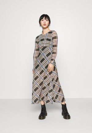 CHECK MIDI - Day dress - multi