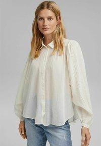 Esprit - Button-down blouse - off white - 0
