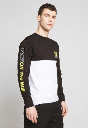 RETRO SPORT COLORBLOCK - Long sleeved top - white/black