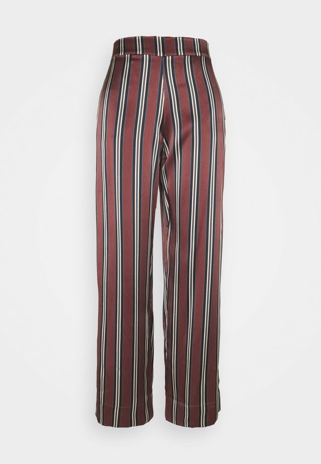 THE LONDON BOTTOM - Pyjamasbukse - burgundy