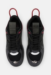 Armani Exchange - Sneakers laag - black/red - 3