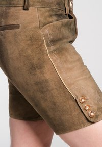 Spieth & Wensky - OLIANA - Leather trousers - brown - 2
