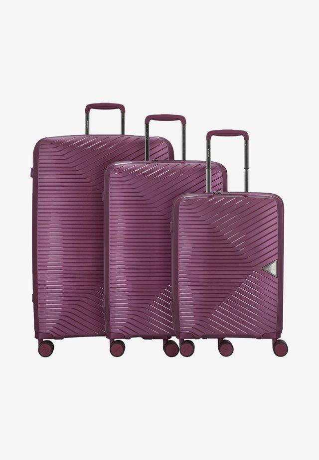 3 PIECES - Luggage set - purple