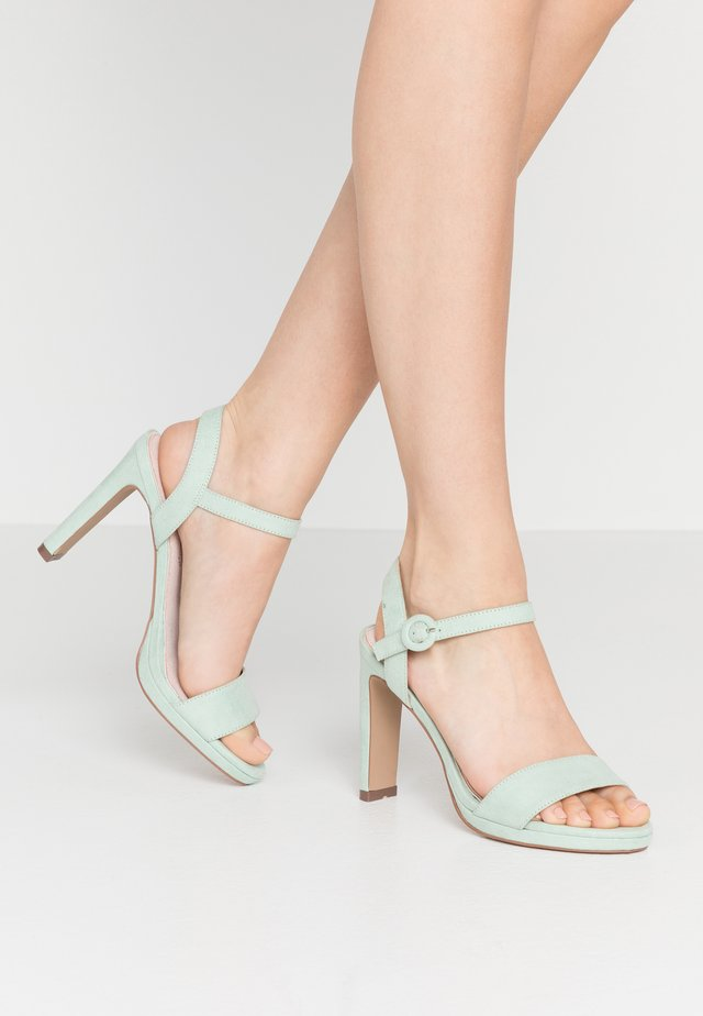 High heeled sandals - mint