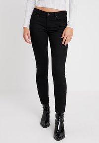 Lee - SCARLETT CROPPED - Jeansy Skinny Fit - black rinse - 0