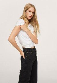 Mango - Straight leg jeans - black denim - 3