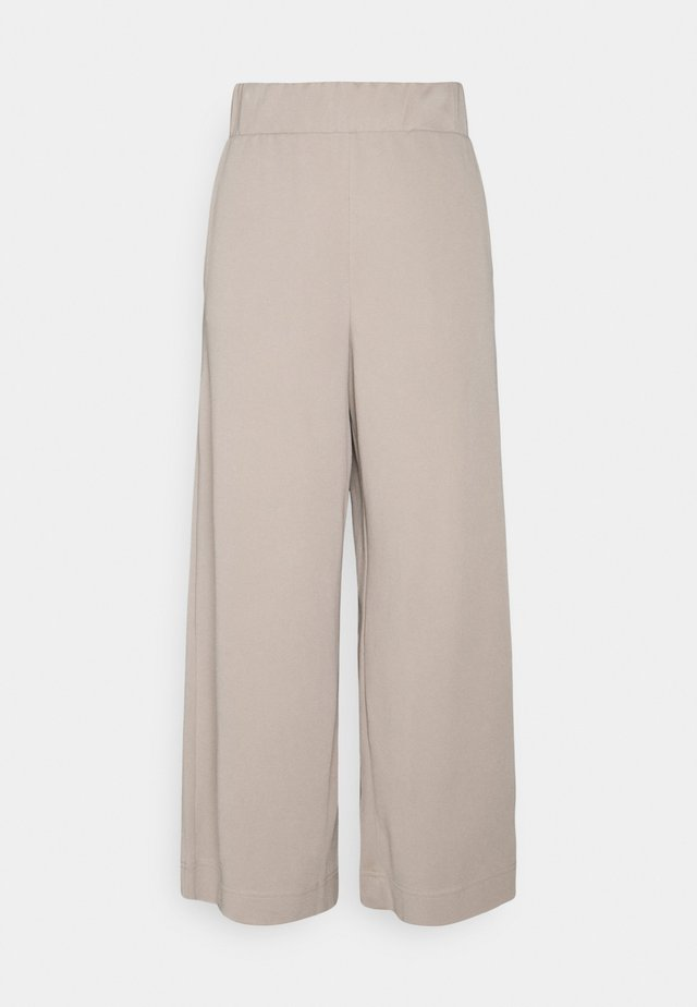 CILLA TROUSERS - Tygbyxor - mole dusty light