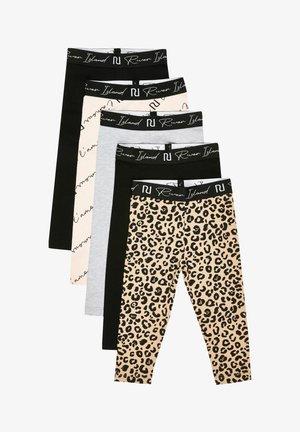 LEOPARD PINT - Leggings - Trousers - black