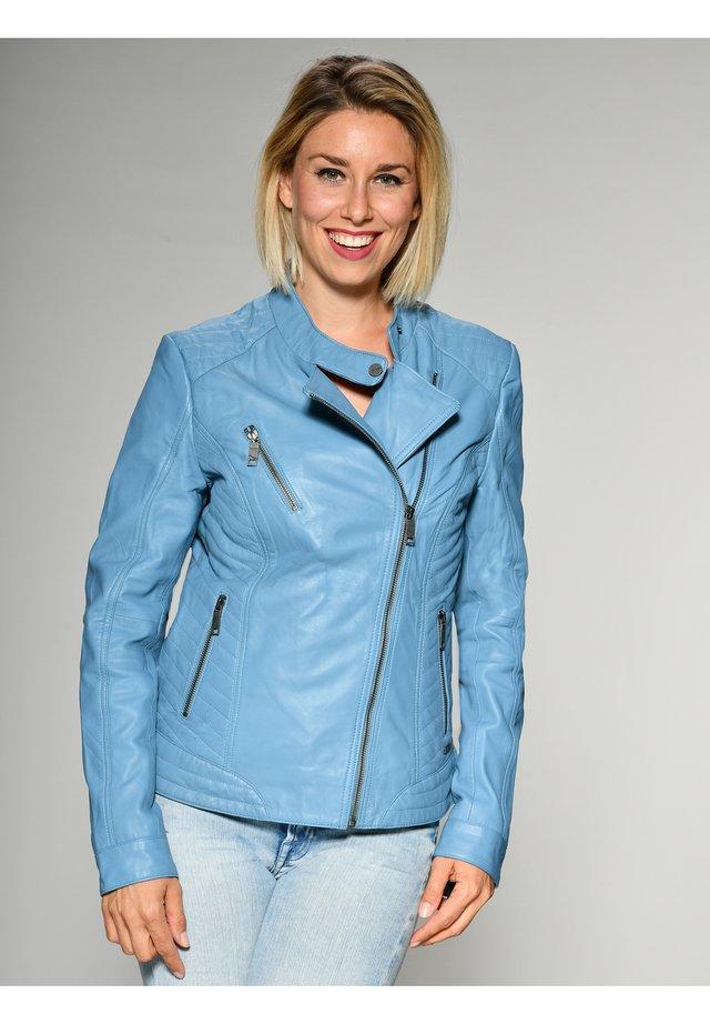 SALLY - Leren jas - light blue