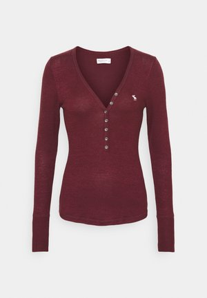 COZY HENLEY  - Long sleeved top - burgundy