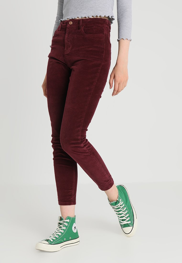 New Look - Trousers - burgundy