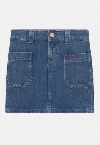 WORKER - Mini skirt - blue denim