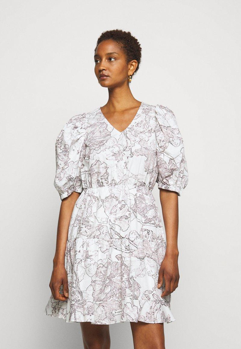 Bruuns Bazaar - POSY OLIVINE DRESS - Day dress - snow white