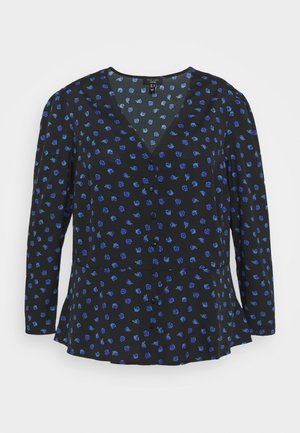 BETH FLORAL FRONT PEPLUM - Blouse - black pattern