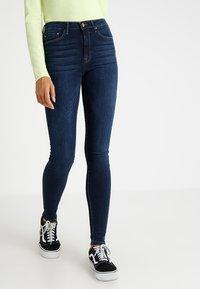 ONLY - ONLPAOLA  - Jeans Skinny Fit - dark blue denim - 0