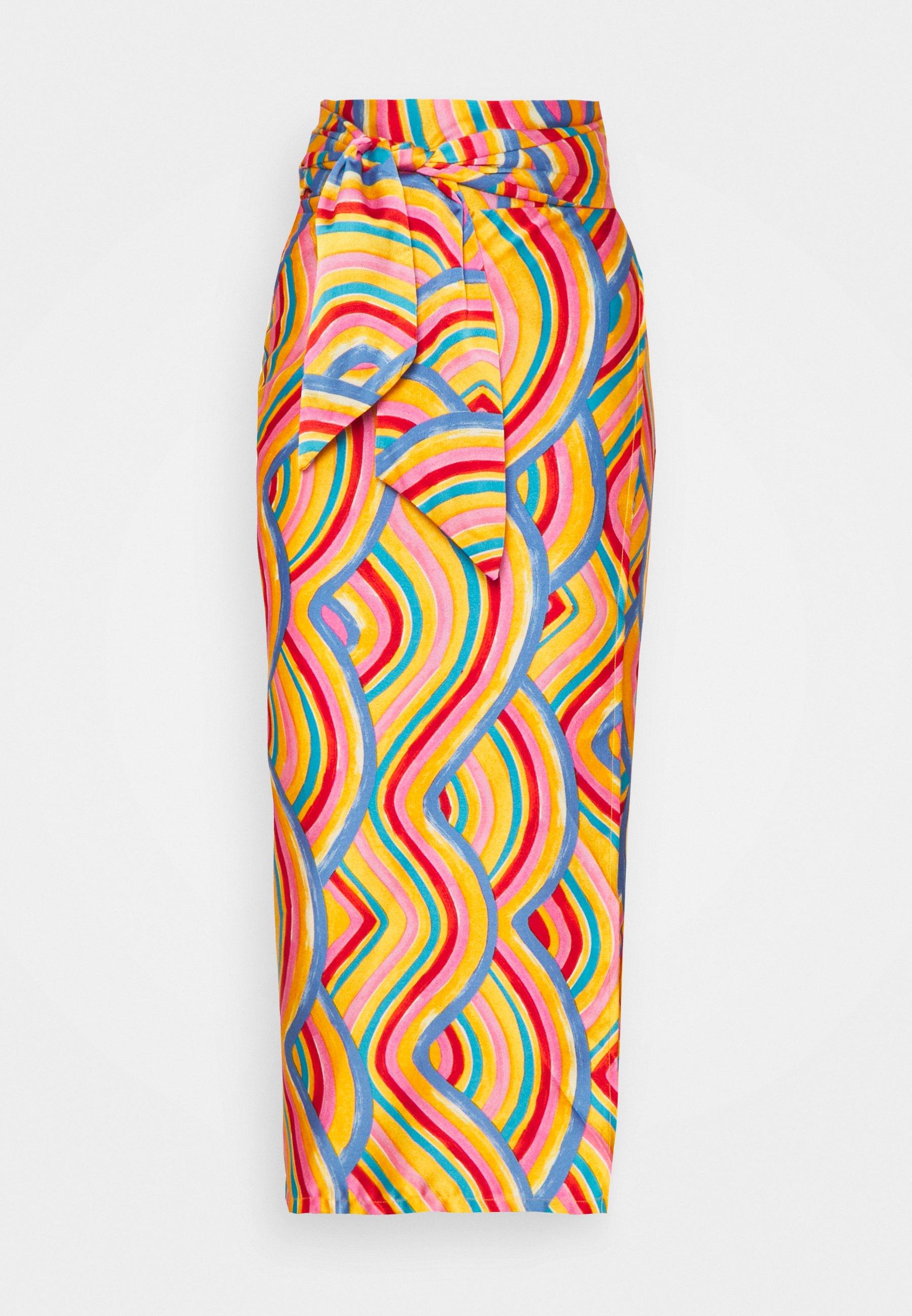 Femme LEOPARD JASPRE SKIRT - Jupe crayon