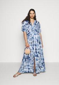 Lauren Ralph Lauren Woman - NIKLOS SHORT SLEEVE CASUAL DRESS - Maxi dress - blue - 1