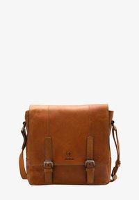 Strellson Premium - BLACKWALL  - Across body bag - cognac - 0
