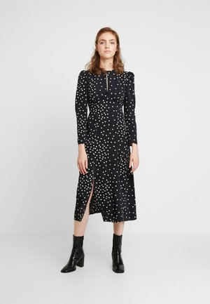 PRINTED PIPED MIDI - Day dress - black