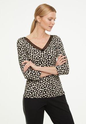 MIT MESH-BLENDE - Long sleeved top - black dot love