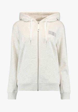 Zip-up hoodie - white melee