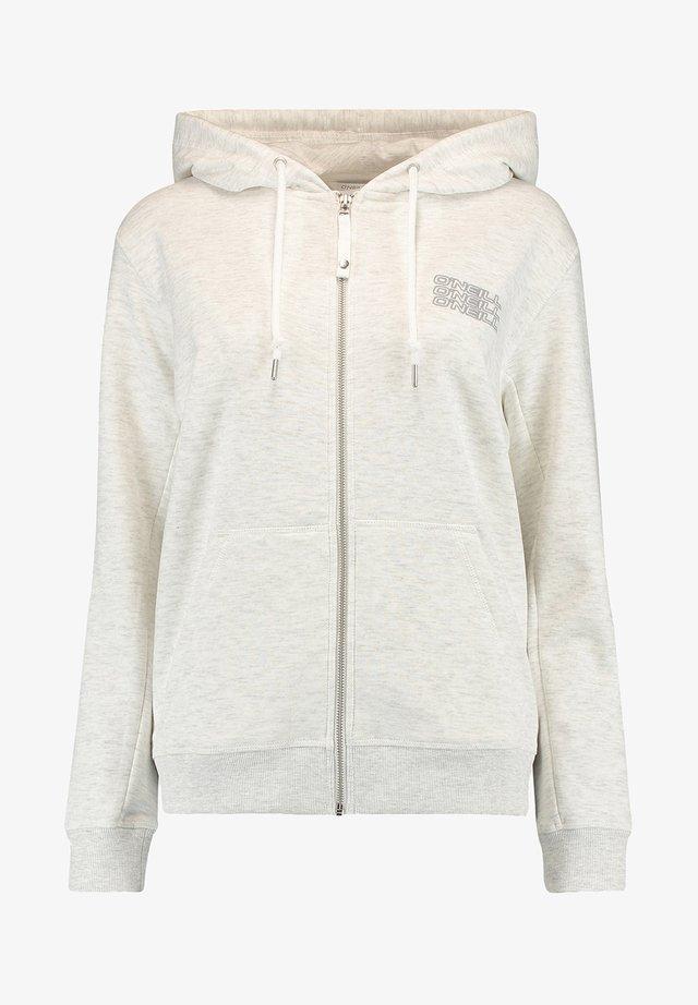 veste en sweat zippée - white melee