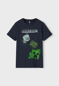 Name it - MINECRAFT - T-shirt print - dark sapphire - 2