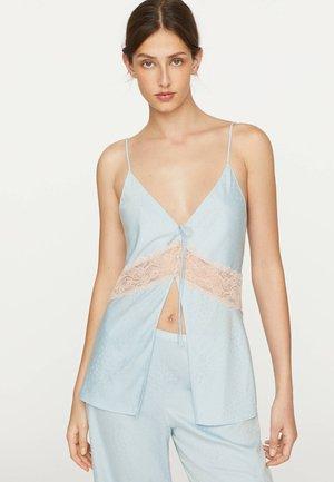 LACE SLIP - Pyžamový top - light blue