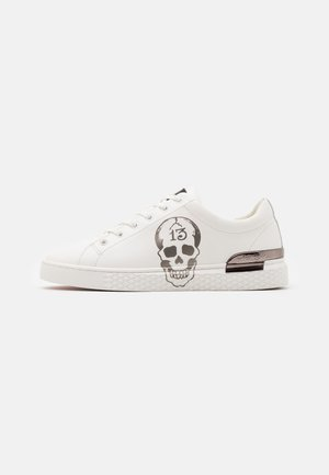 LUCKY  - Sneakers basse - white/gunmetal