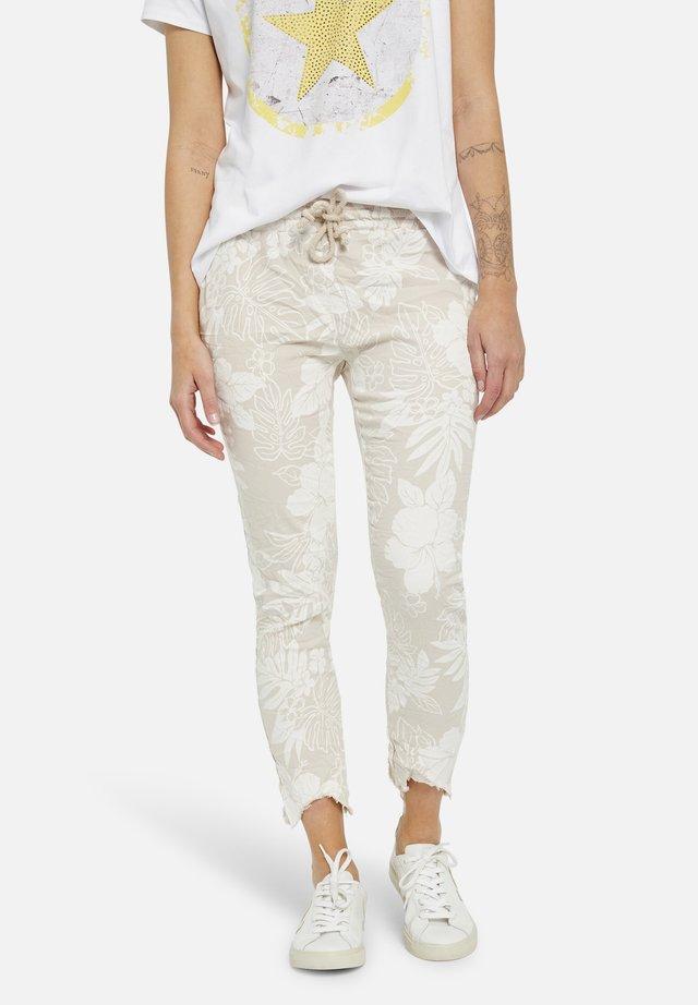 Trousers - natur print