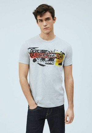 AMERSHAM - T-shirt con stampa - gris marl
