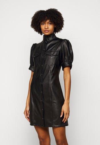 DRESS - Shirt dress - black