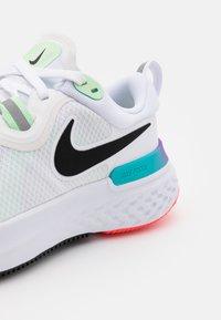 Nike Performance - REACT MILER - Neutral running shoes - white/black/vapor green/hyper jade - 5