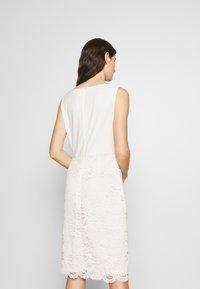 Lauren Ralph Lauren - ISABELLA LACE DRESS COMBO - Vestito elegante - matte ivory - 2