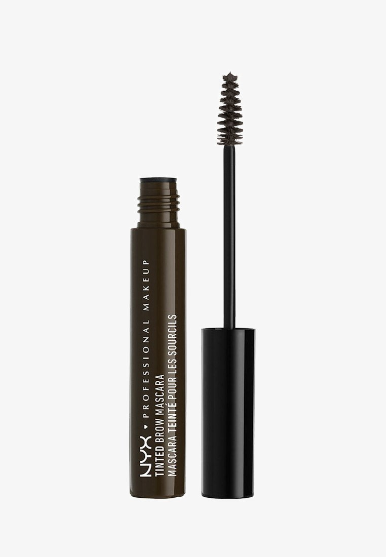Nyx Professional Makeup - TINTED BROW MASCARA - Henna do brwi - 5 black