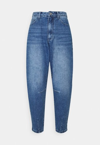 HIGH RISE CARROT LEG - Jeans straight leg - blue