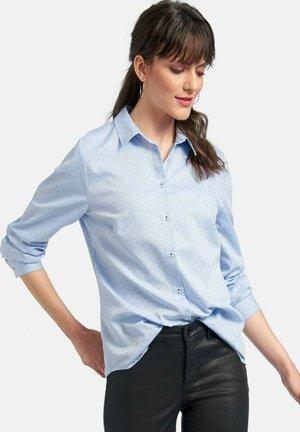 Button-down blouse - bleu/weiß/blau