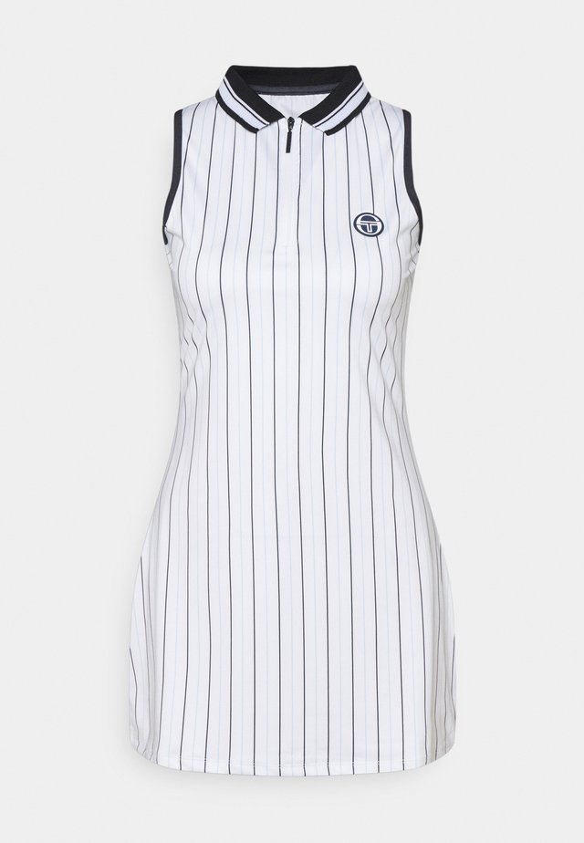 PARIS DRESS - Urheilumekko - blanc de blanc/blue depths