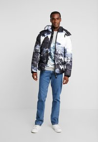 TOM TAILOR - CREW NECK WITH MOUNTAIN  - Sweatshirt - middle grey melange - 1