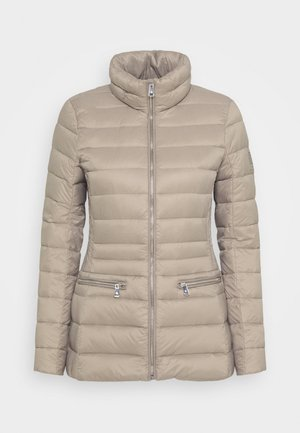 SOFT COMBO MIXED QUILTS - Down jacket - taupe